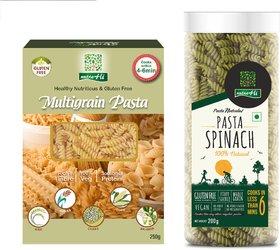 NutraHi Multigrain Gluten free pasta 250g  + Spinach Gluten free pasta 200g (Combo)