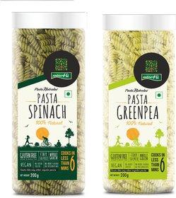 NutraHi Spinach Gluten  free pasta + Greenpea Gluten free pasta 200g each (Combo)