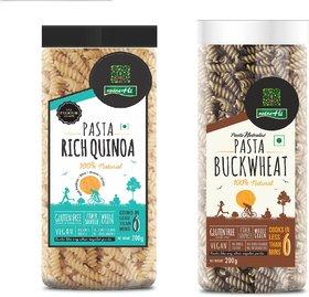 NutraHi Rich Quinoa free pasta + Buckwheat Gluten free pasta 200g each (Combo)