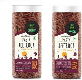 NutraHi Beetroot Gluten free pasta 200g each ( Pack of 2)