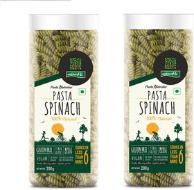 NutraHi Spinach Gluten free pasta 200g each ( Pack of 2)