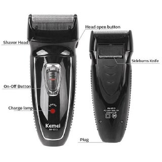 Kemei KM-8013 2 Heads Electronic Rechargeable Reciprocate Man Shaver Triple Blade Electric Shaving Razors Face Care