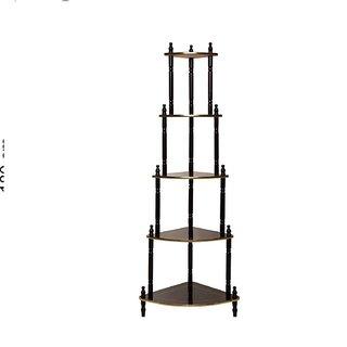 S4D 5 Shelve Corner Table Wooden Shelf, Multi Color