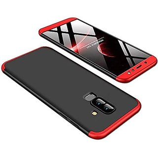 OGW SAMSUNG A6 PLUS -3 IN 1 CASE COVER RED  BLACK