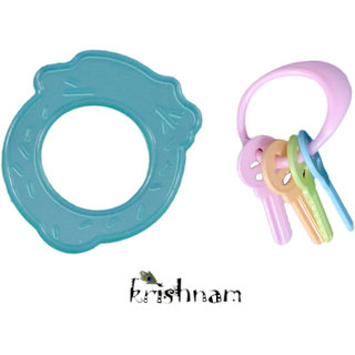 Krishnam Teething Toys for Best Baby Teether Massage. Molar Teeth Soother with Soft Sensory BPA Free Natural Silicone