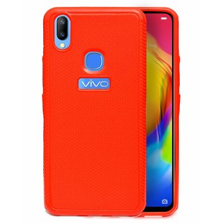 ECellStreet Comfort Grip Feel Premium Soft Back Cover Protective Case For Vivo Y83 Pro - Red