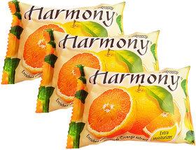 Harmony Orange Fruity Soap - 75g (Pack Of 3)