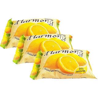 Harmony Lemon Fruity Soap - 75g (Pack Of 3)