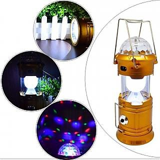 Colorful Disco Lights + Egg shape Tube + 1w Rechargeable LED Energy Camping Lantern with Torch USB Interface Round Plug +Solar  for Cell Phone Tablet Outdoor Trekking Hiking Tent Fishing(1-Piece)