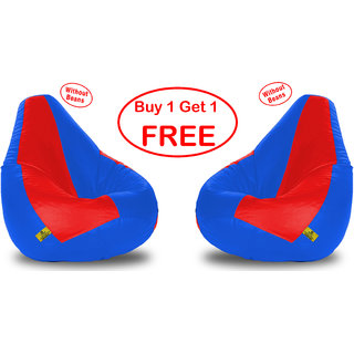 Beanbagwala XXL REDR.BLUE BEAN BAG-COVERS(Without Beans)-Buy One Get One Free