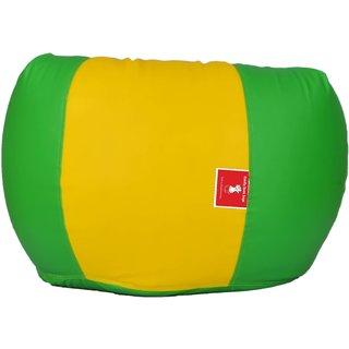 Sicillian Bean Bags Bean Bag - Size Xl - Without Fillers - Cover Only (Parrot Green & Yellow)