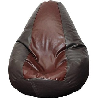 Snuggle XXL Light Brown and Dark Brown Bean Bag Cover