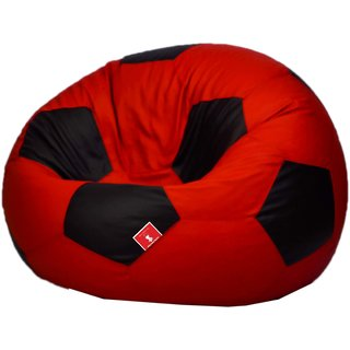 Sicillian Bean Bags Bean Football - Size Xxl - Without Fillers - Cover Only (Red & Black)