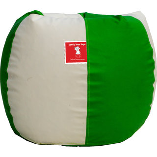 Sicillian Bean Bags Bean Bag - Size Xl - Without Fillers - Cover Only (Green & White)
