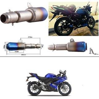 KunjZone 51mm Inlet Long Grenade Launcher Shape Exhaust Pipe Muffler  Silencer For Yamaha R15 V3