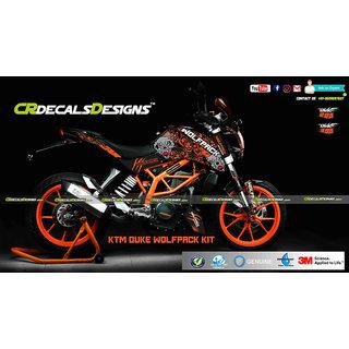 CR Decals KTM DUKE 125/200/390 Custom Decals/ Wrap/ Stickers Full Body WOLFPACK ORANGE Kit