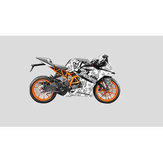 CR Decals KTM RC Custom Decals/ Wrap/ Stickers Full Body ROK ON Edition Kit- White