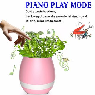 Style Maniac FLOWER Pot With LED NIGHT LIGHT, MUSIC POT Bluetooth Speaker