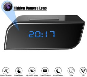WiFi Hidden Camera Clock -Full HD 1080P Wireless Spy Ca