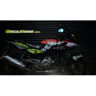 Pulsar 220 Custom Decals/ Wrap/ Stickers Full Body Vr46 Shark Edition Kit for Bike - 10 inches(25.4 cm)