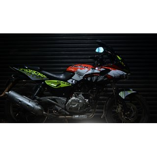 CR Decals Pulsar 220 Custom Decals/ Wrap/ Stickers Full Body Vr46 Shark Edition Kit for Bike - 10 inches(25.4 cm)