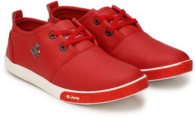 S37 MEN'S STYLISH RED SNEAKERS SHOES