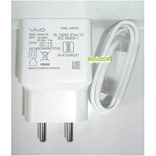 100 Percent Original VIVO Adapter Charger With  USB Cable 2AMP Adaptor With Cable For all VIVO Phones  With 1 Month Wara