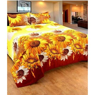 3D Double Bedsheet With 2 Pillow Covers by Sweet Home Dcor
