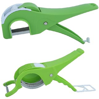 Rotek Combo of Straight Blade Vegetable Cutter  Round Blade Vegetable Cutter with Peeler