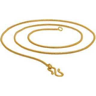 Beadworks Gold Plated Chain for Women (Chain-04)