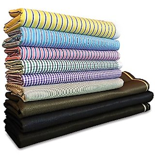 Krivas Suiting and Shirting (4 Shirts and 4 Suiting Fabrics)