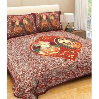 New Jaipuri Cotton Premium bedsheet  by Sweet Home Dcor
