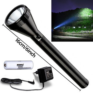 400 Meter Long Beam NISHICA Rechargeable Waterproof Metal LED Flashlight Torch Searchlight Outdoor/Emergency Light 12W