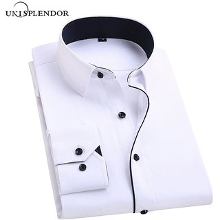 Desginer White Black (Cotton-Code) Casual Shirt
