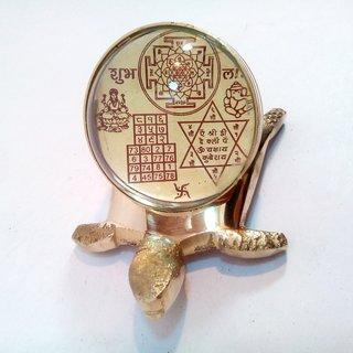 Brass Shri Kuber Tortoise Kachua Yantra Wealth  Business Success Vastu Energiz
