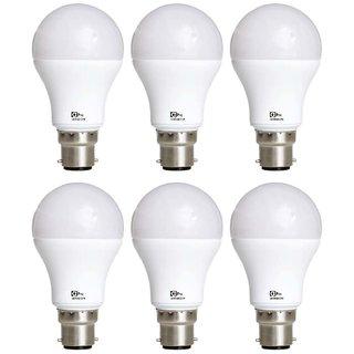 Philips Base B22 12-Watt LED Bulb (Pack of 6, Cool Day Light)