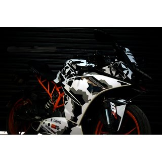 CR Decals KTM RC Custom Decals/ Stickers/ Wrap Full Body CAMO SERIES Edition Sticker Kit (RC 125/200/390)
