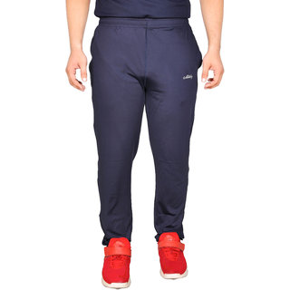 Meddy Sports Track Pant for Men in Navy Blue - Solid Pattern Full length Perfect for Fitness Gym Cardio