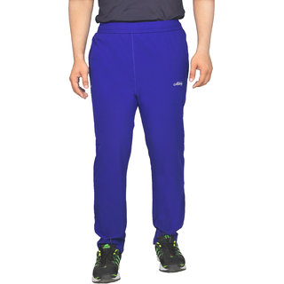 Meddy Sports Lower for Men in Royal Blue - Solid Pattern Full length Perfect for Fitness Gym Cardio