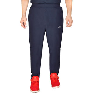Meddy Sports Lower for Men in Navy Blue - Solid Pattern Full length Perfect for Fitness Gym Cardio