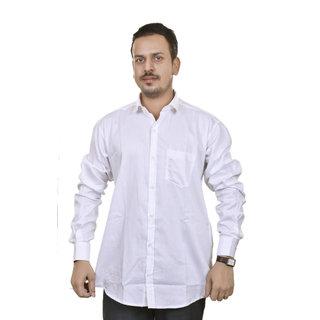 Ekrastaa Men's Long Sleeve Casual Button Down Shirts White
