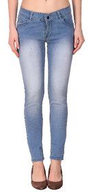 Funky  Women'S Light Blue Slim Jeans
