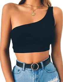The Blazze Women's Sleeveless Crop Tops Sexy Strappy Tees