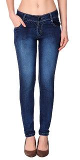 Funky  Women'S Blue Slim Jeans
