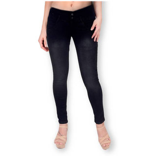 Funky  Women'S Black Slim Jeans