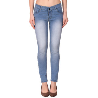 Funky  Women'S Light Blue Slim Jeans