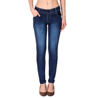 Funky  Women'S Blue Slim Jeans