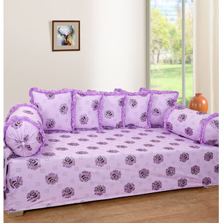 Rd Trend Cotton Diwan Set Of 8 Pcs. (1 Single Bed Sheet 5 Cushion Cover And 2 Bolster Covers Exclusive Design)