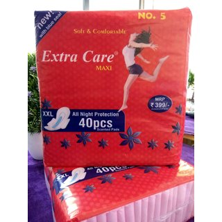 Extra Care Maxi KEEP DRY IN YOUR DAYS XXL Sanitary Pads Pack of 40