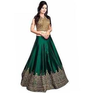 V KARAN woman's Banglori Silk Party Wear Gown